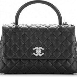 Chanel Coco Handle Black caviar and antique gold